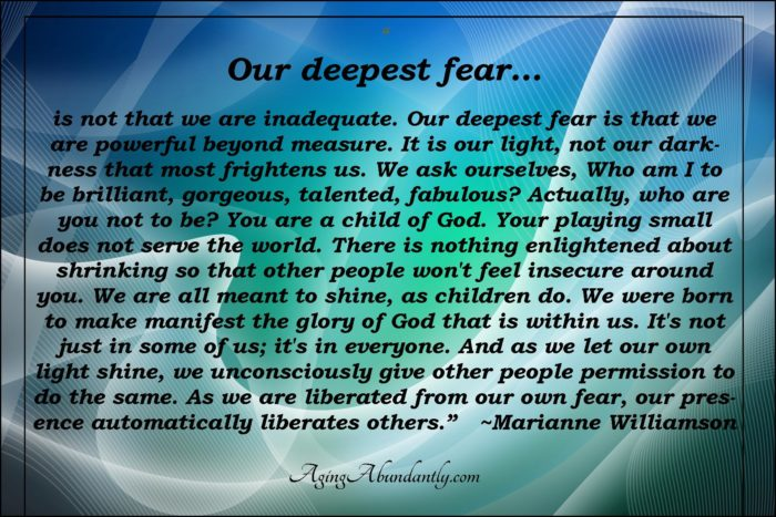 Marianne Williamson Love Quotes Our Deepest Fear Is Not That We Are Inadequatemarianne